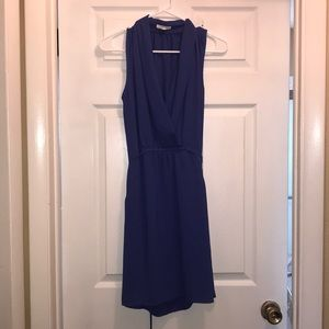 Blue collard dress